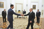 سفر بشار اسد به روسیه و دیدار با پوتین
