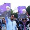 برپایی جشن پیروزی حسن روحانی در کشور