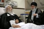 در یکی از بیمارستانهای تهران انجام شد عیادت رهبر انقلاب اسلامی از حضرت آیت الله مکارم شیرازی